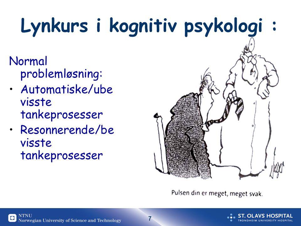 Lynkurs i kognitiv psykologi :