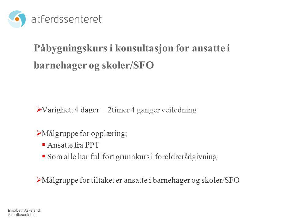 Påbygningskurs i konsultasjon for ansatte i barnehager og skoler/SFO