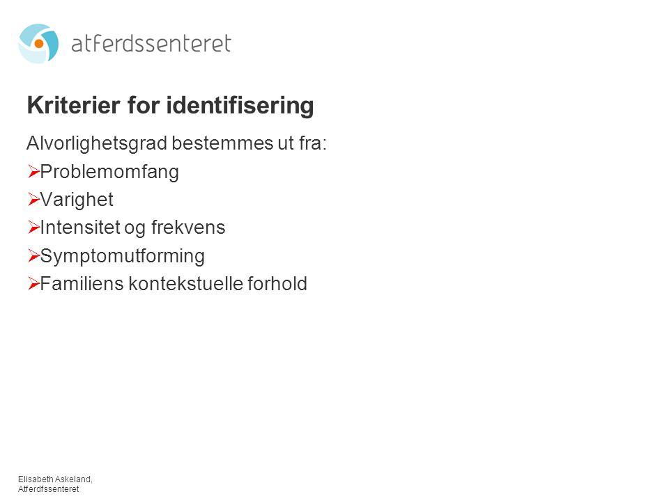 Kriterier for identifisering
