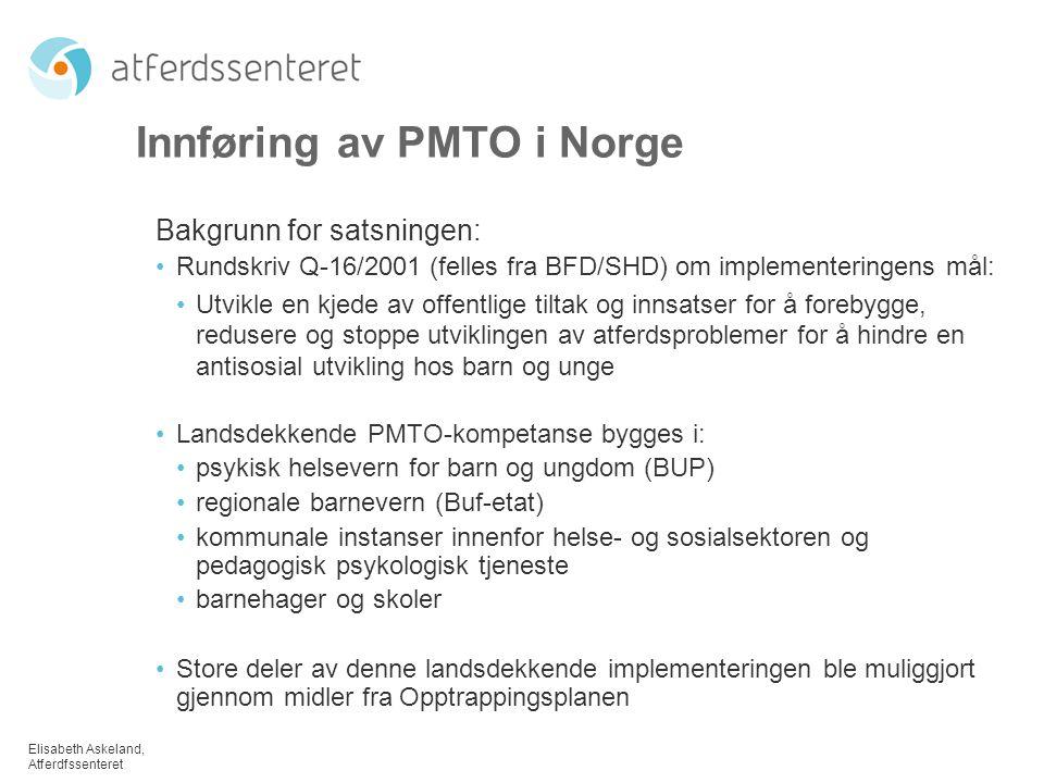 Innføring av PMTO i Norge