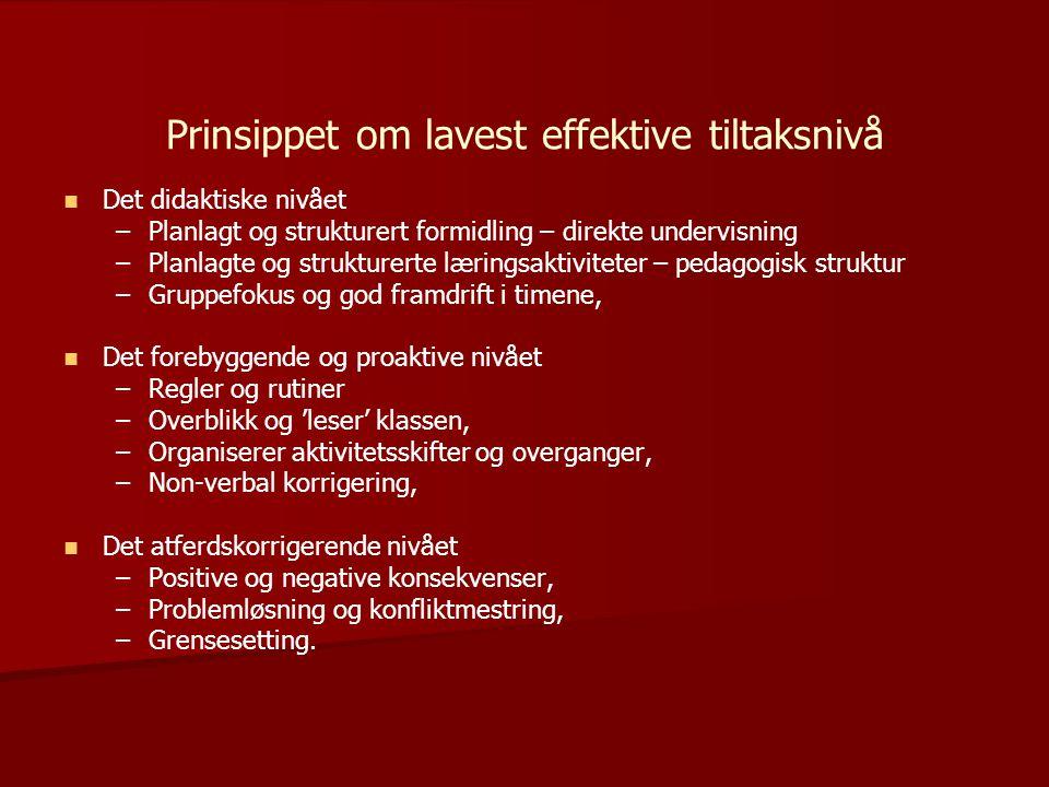Prinsippet om lavest effektive tiltaksnivå