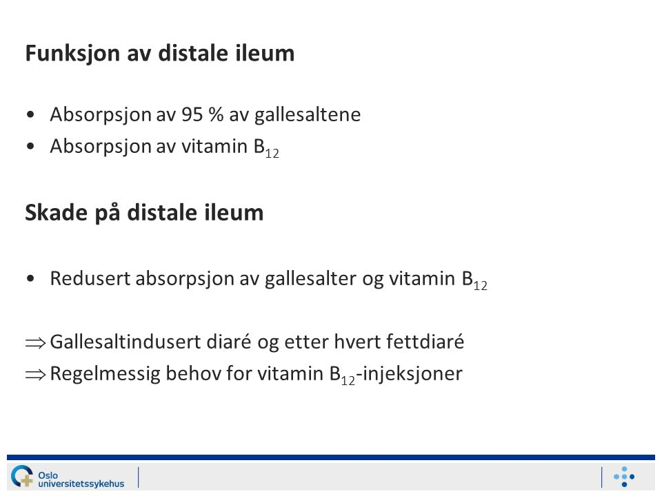 Funksjon av distale ileum
