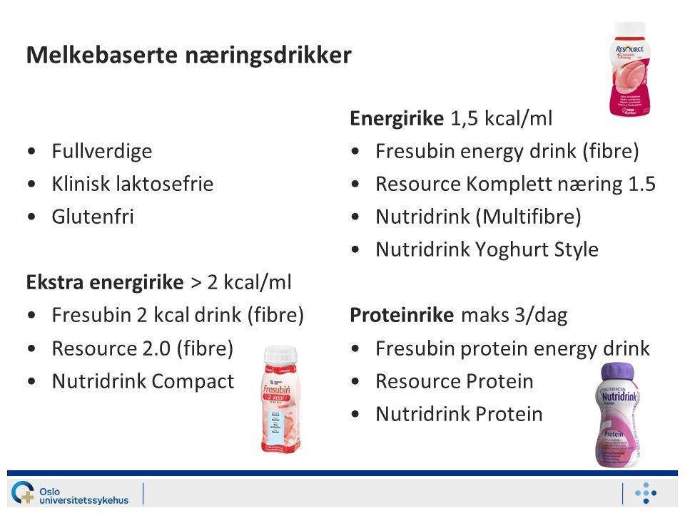 Melkebaserte næringsdrikker