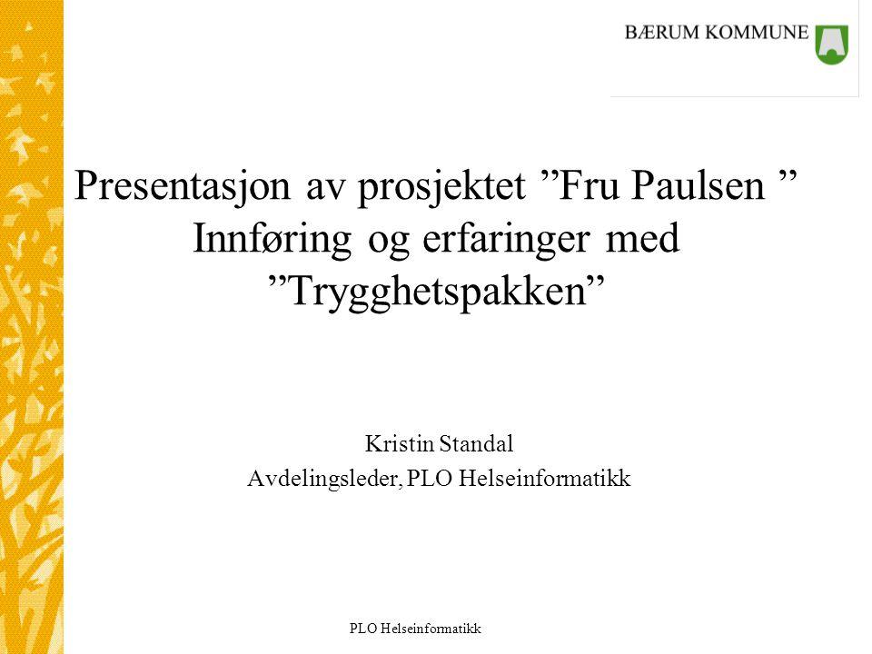 Kristin Standal Avdelingsleder, PLO Helseinformatikk