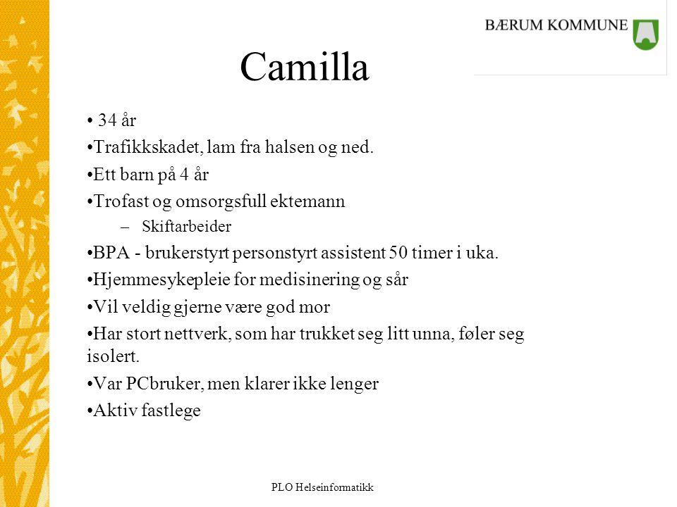 Camilla 34 år Trafikkskadet, lam fra halsen og ned. Ett barn på 4 år