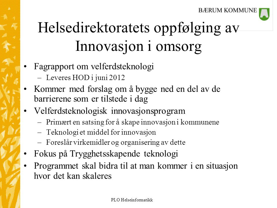 Helsedirektoratets oppfølging av Innovasjon i omsorg
