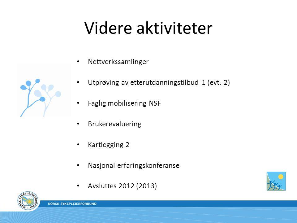Videre aktiviteter Nettverkssamlinger
