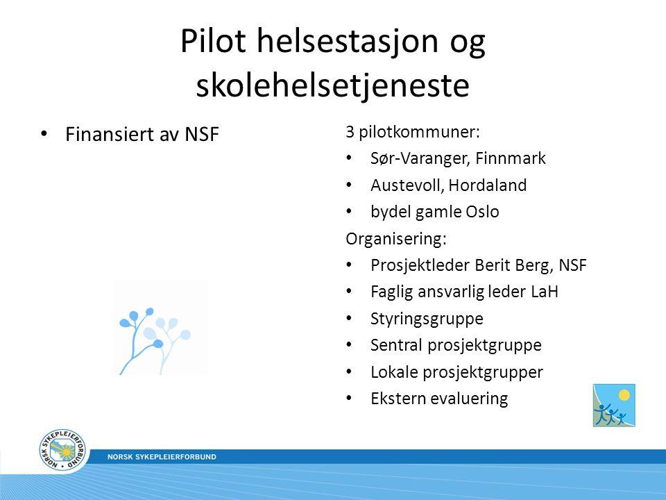 Pilot helsestasjon og skolehelsetjeneste