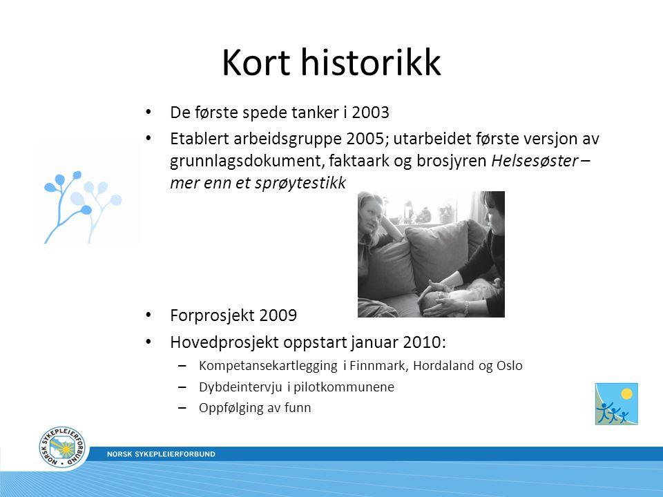 Kort historikk De første spede tanker i 2003