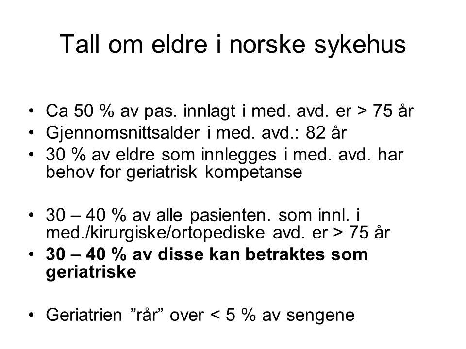 Tall om eldre i norske sykehus