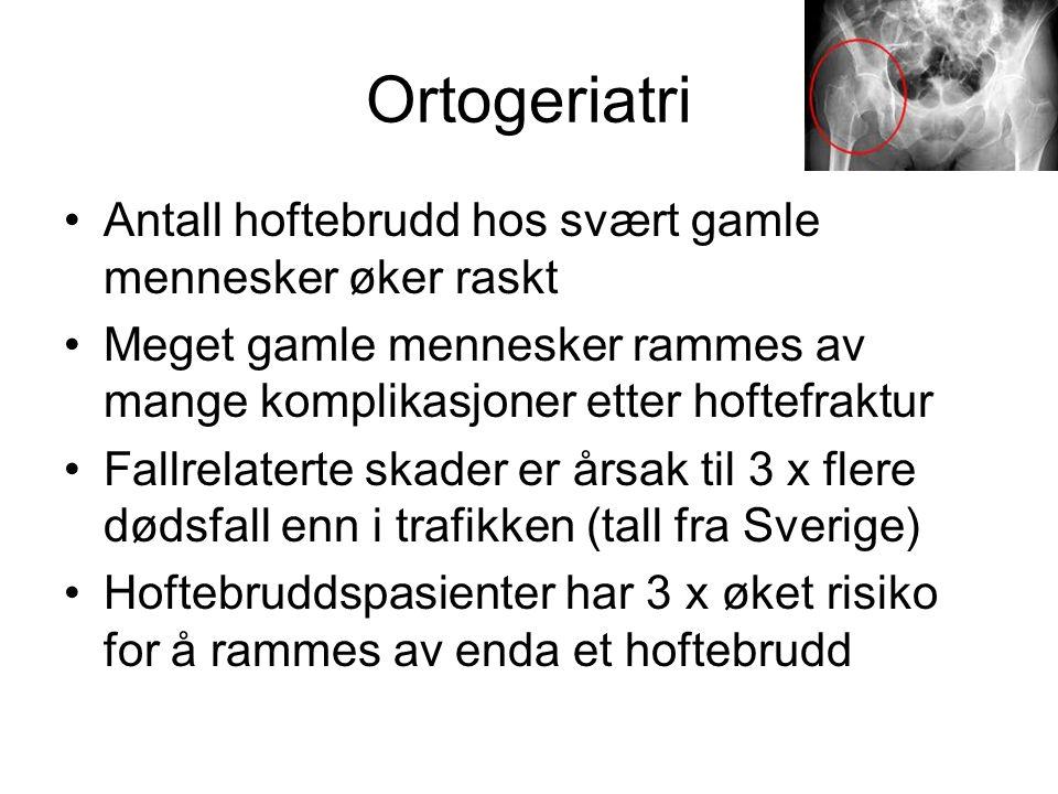 Ortogeriatri Antall hoftebrudd hos svært gamle mennesker øker raskt
