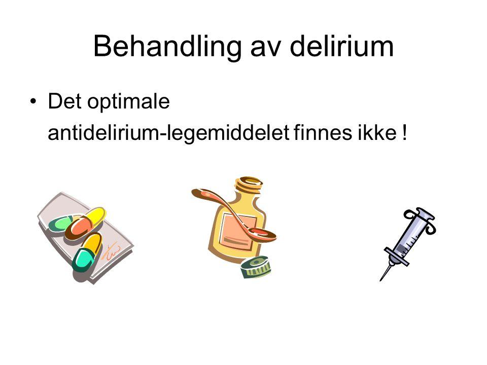 Behandling av delirium