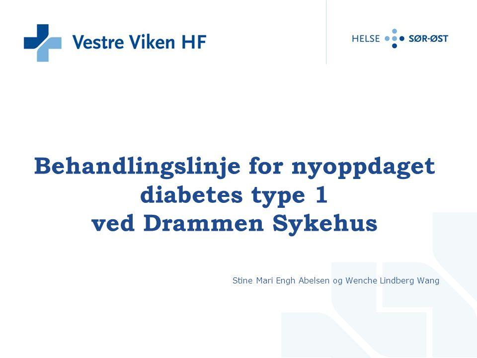 Behandlingslinje for nyoppdaget diabetes type 1 ved Drammen Sykehus
