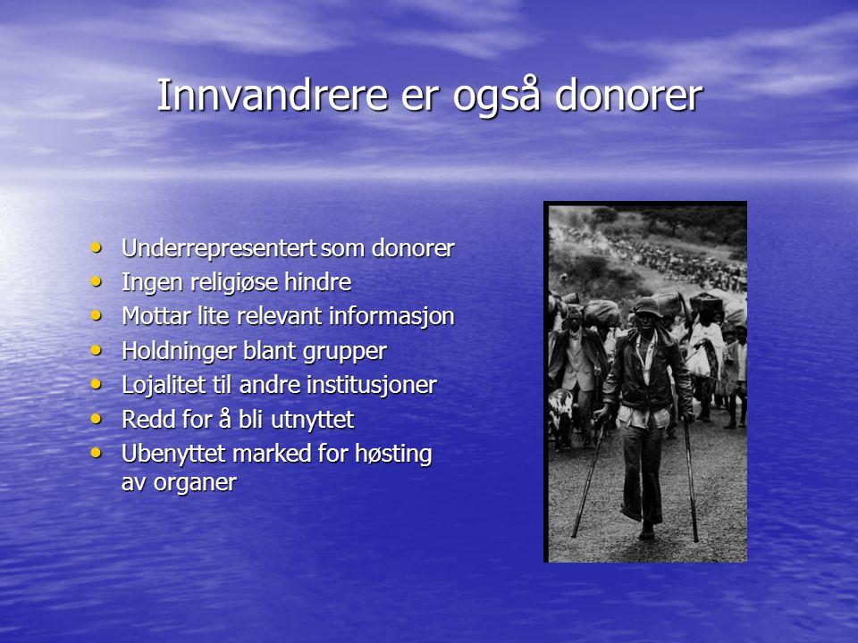 Innvandrere er også donorer