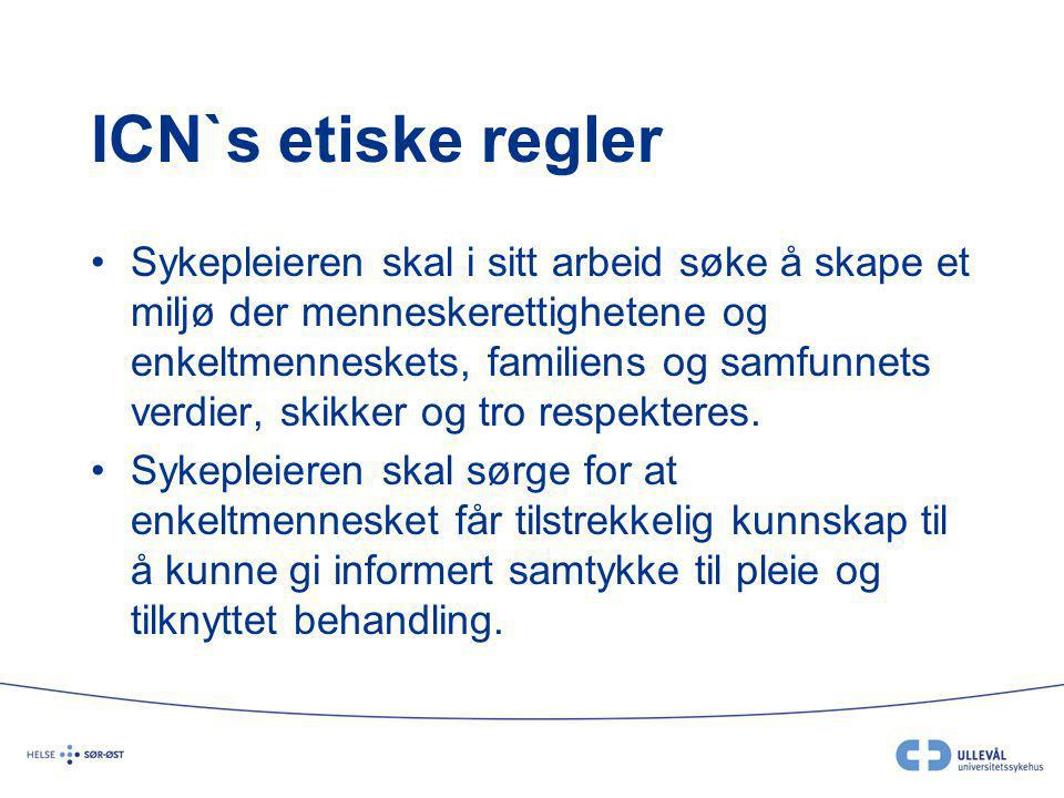ICN`s etiske regler