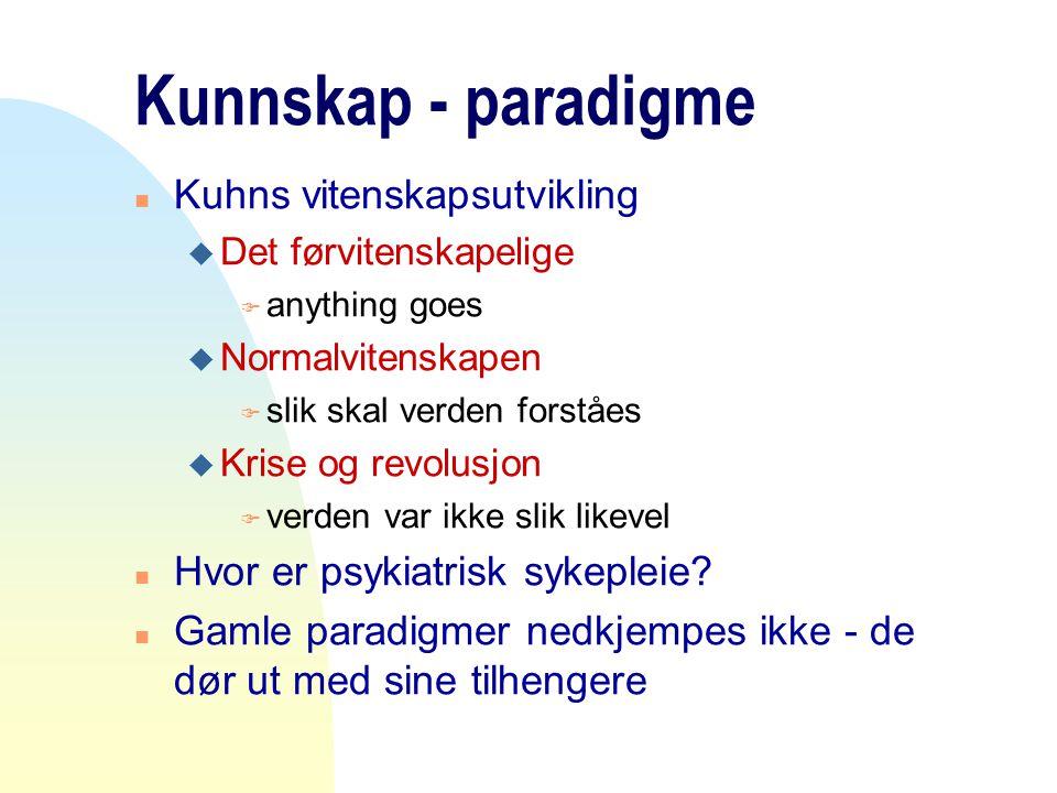 Kunnskap - paradigme Kuhns vitenskapsutvikling