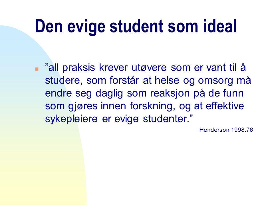 Den evige student som ideal