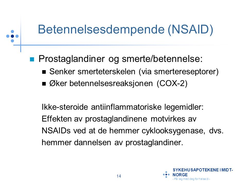 Betennelsesdempende (NSAID)
