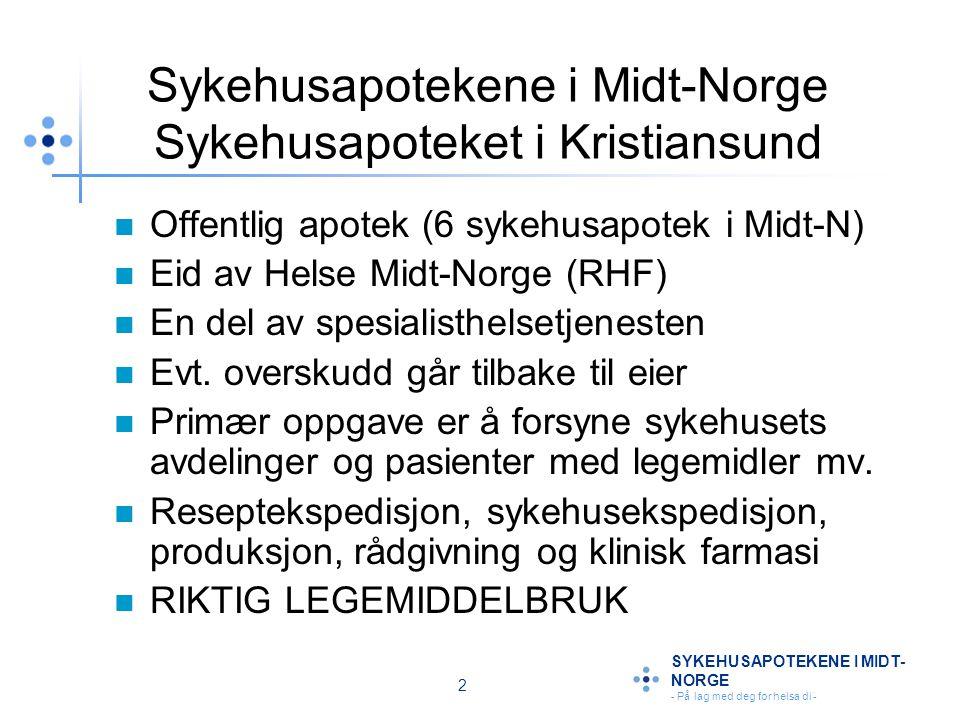 Sykehusapotekene i Midt-Norge Sykehusapoteket i Kristiansund