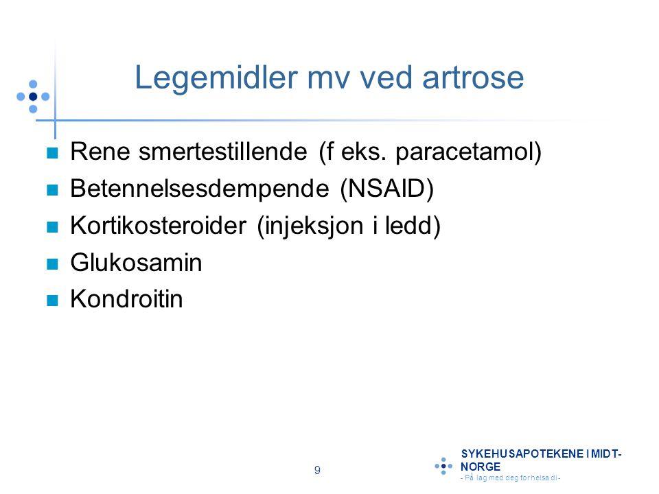Legemidler mv ved artrose