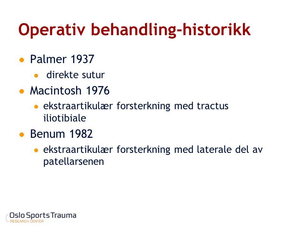 Operativ behandling-historikk