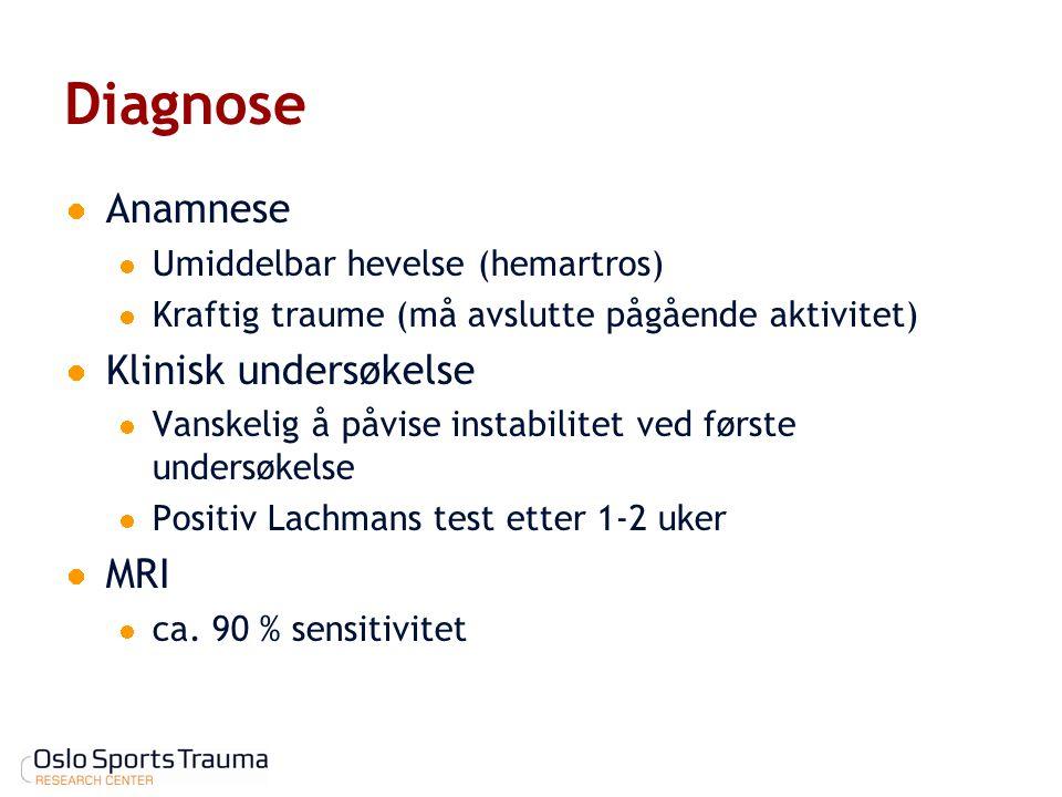 Diagnose Anamnese Klinisk undersøkelse MRI