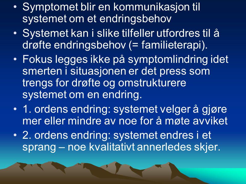 Symptomet blir en kommunikasjon til systemet om et endringsbehov
