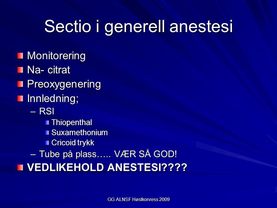 Sectio i generell anestesi