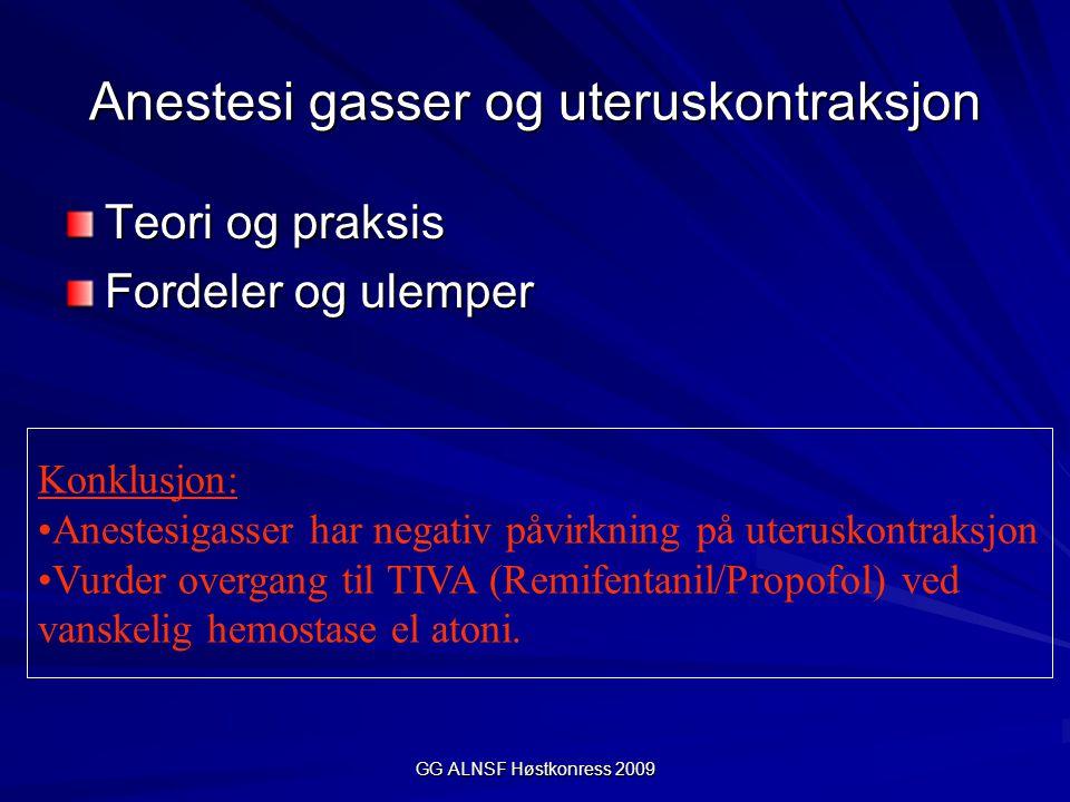 Anestesi gasser og uteruskontraksjon