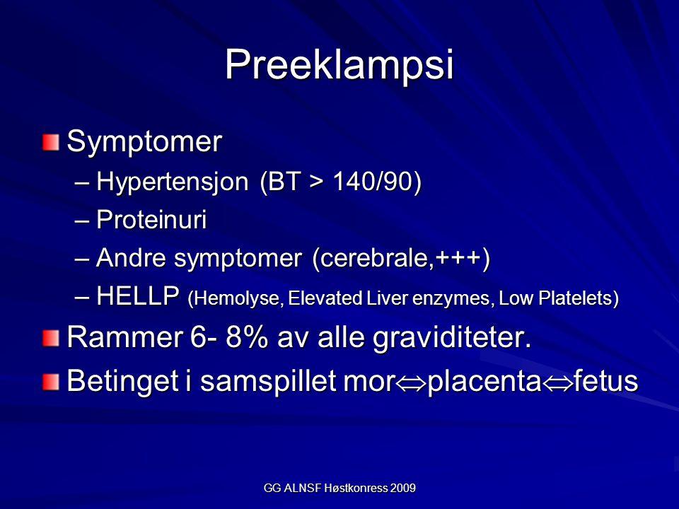 Preeklampsi Symptomer Rammer 6- 8% av alle graviditeter.