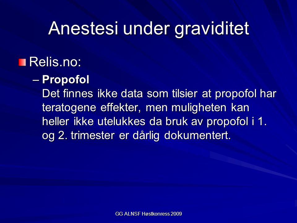 Anestesi under graviditet