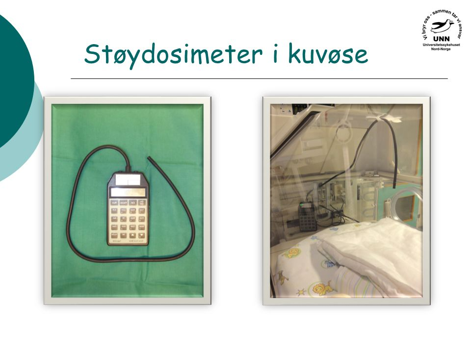 Støydosimeter i kuvøse