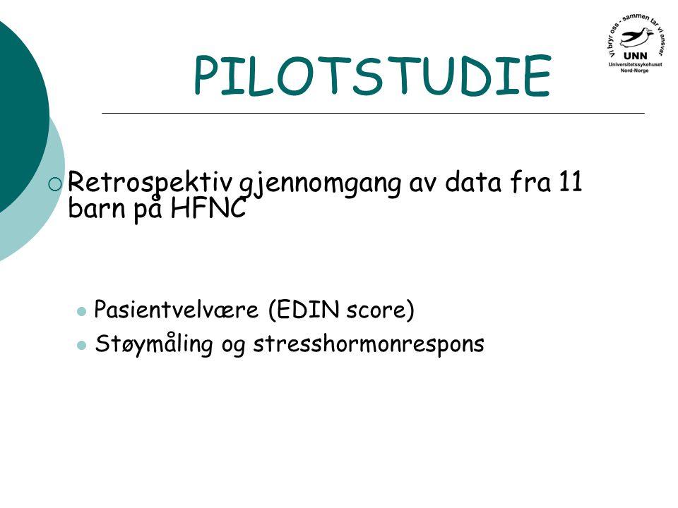 PILOTSTUDIE Retrospektiv gjennomgang av data fra 11 barn på HFNC