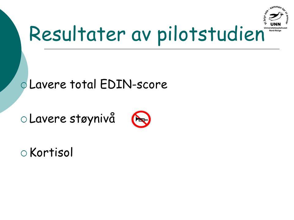 Resultater av pilotstudien