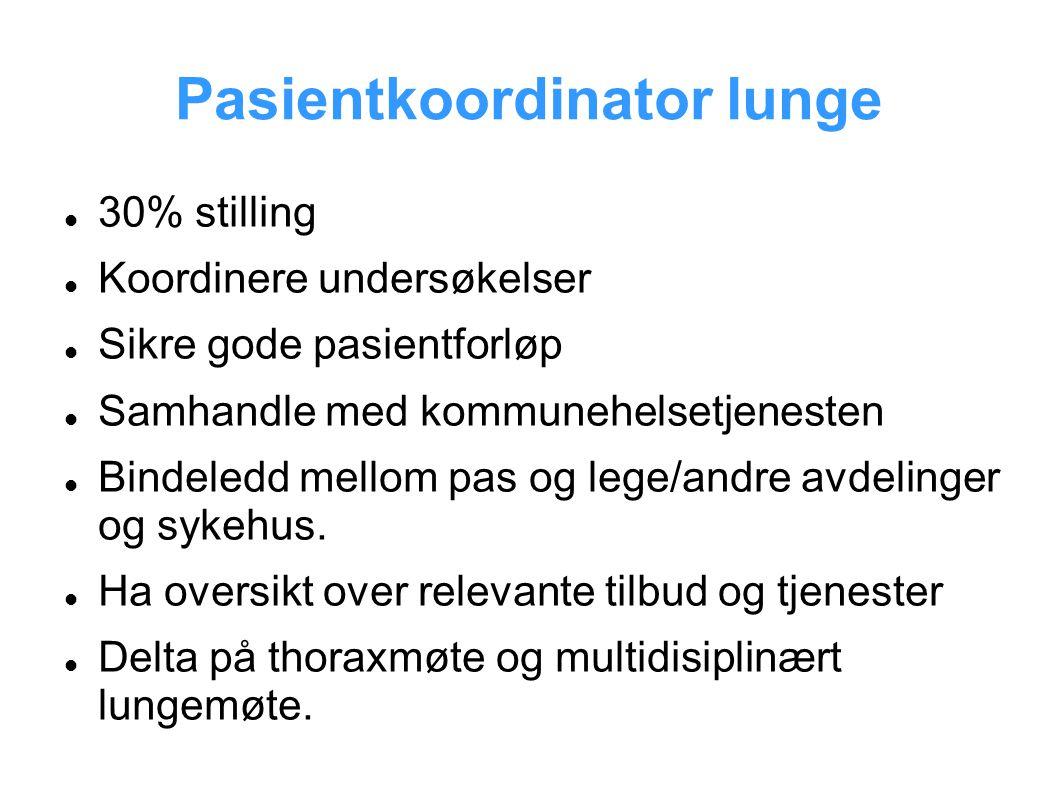 Pasientkoordinator lunge