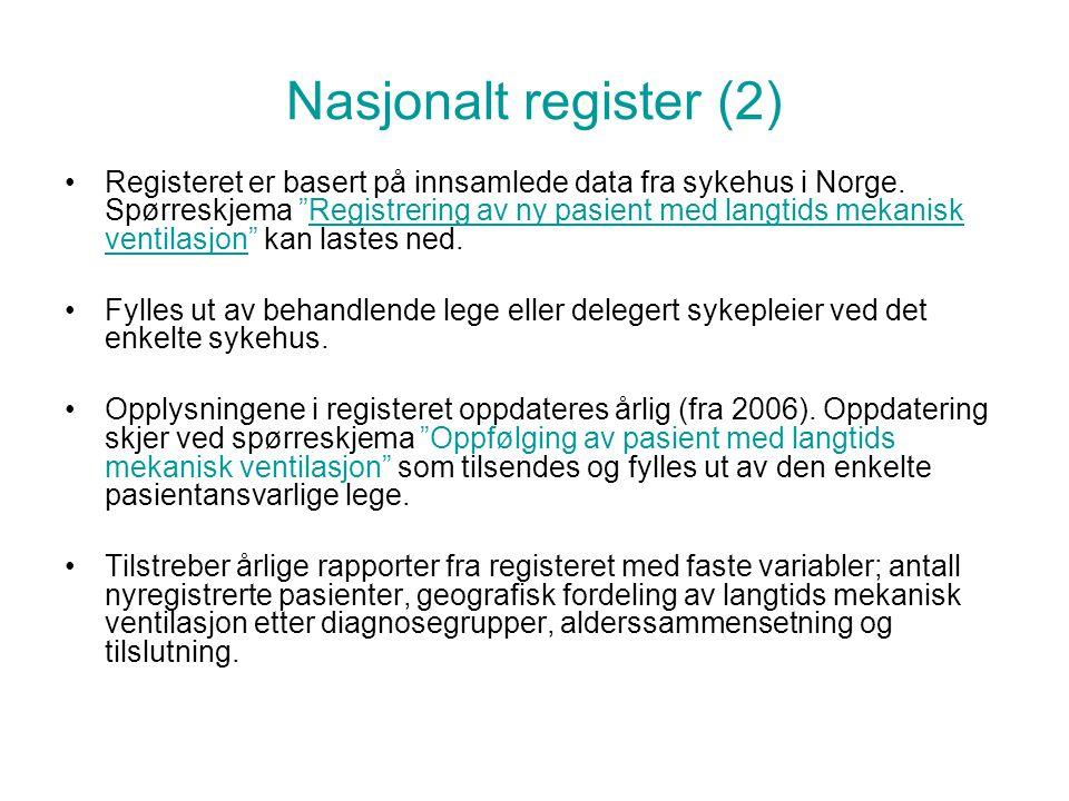 Nasjonalt register (2)