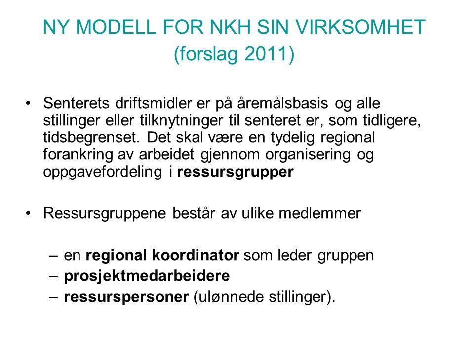 NY MODELL FOR NKH SIN VIRKSOMHET