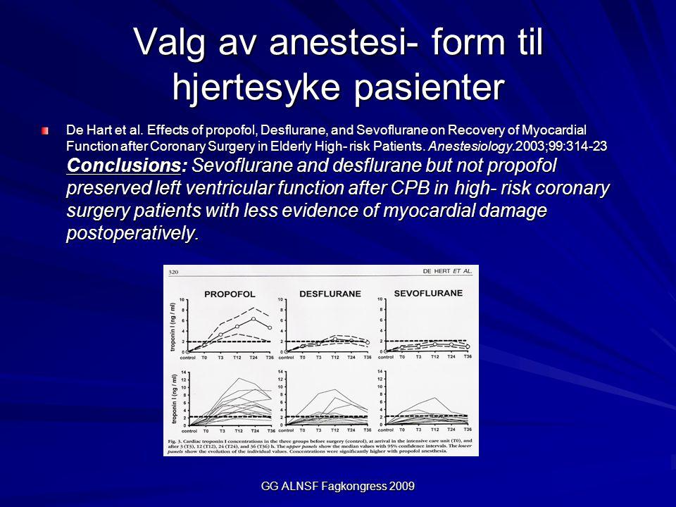 Valg av anestesi- form til hjertesyke pasienter