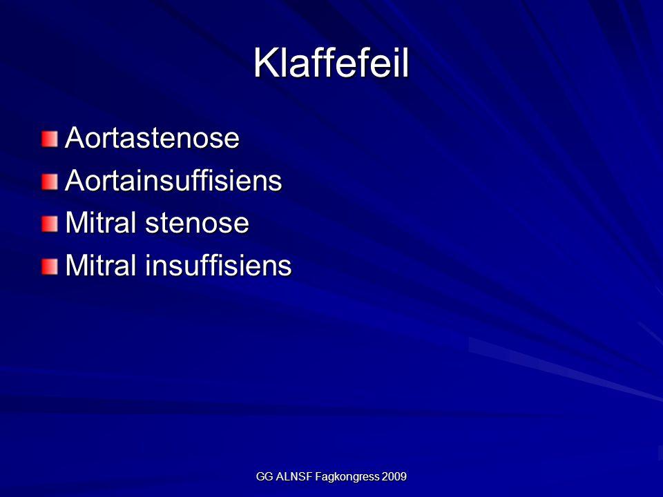 Klaffefeil Aortastenose Aortainsuffisiens Mitral stenose