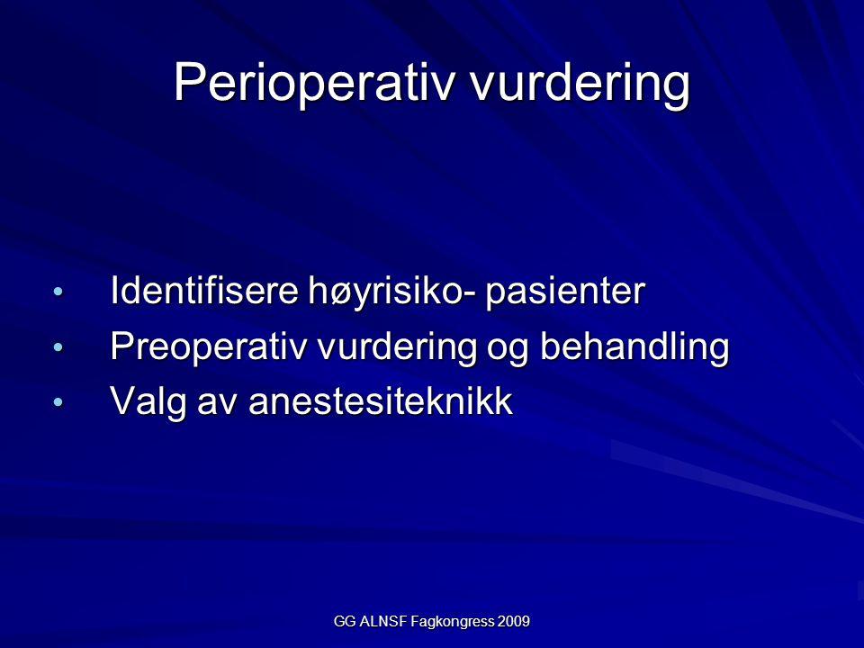 Perioperativ vurdering