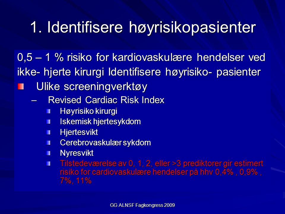 1. Identifisere høyrisikopasienter