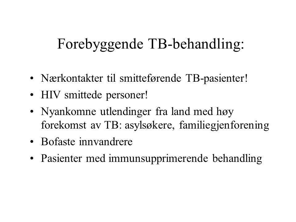 Forebyggende TB-behandling: