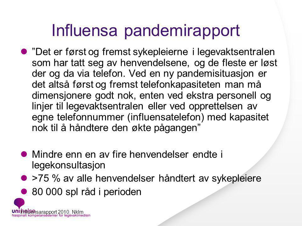 Influensa pandemirapport