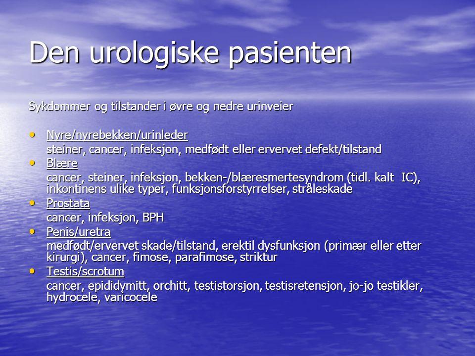 Den urologiske pasienten