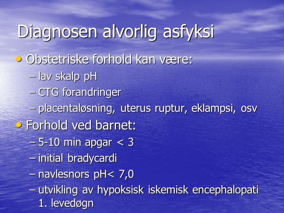 Diagnosen alvorlig asfyksi