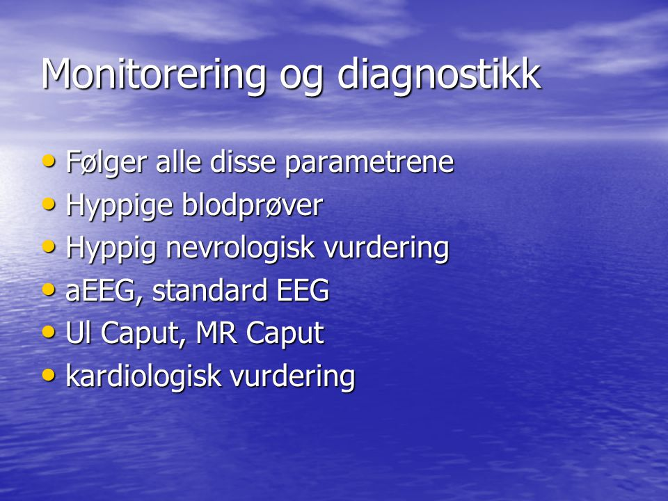 Monitorering og diagnostikk