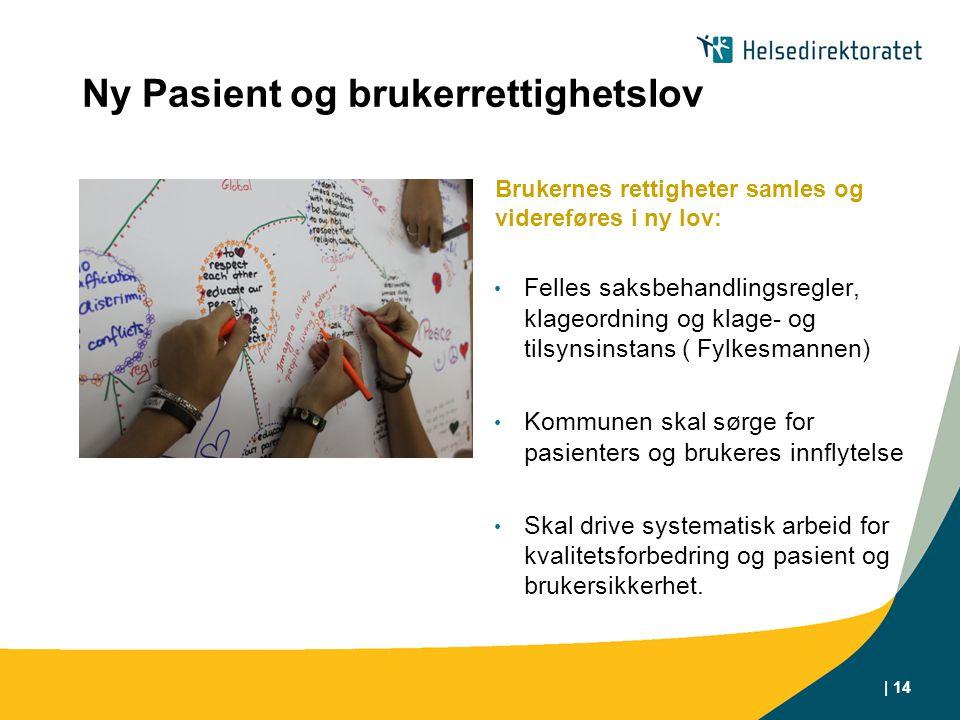 Ny Pasient og brukerrettighetslov