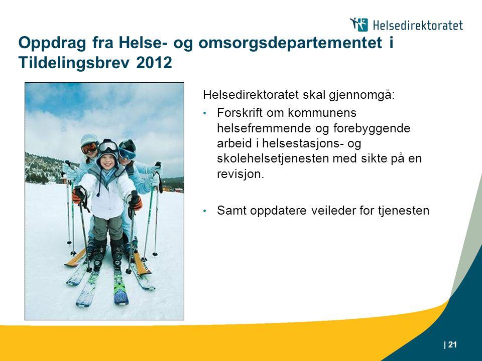 Oppdrag fra Helse- og omsorgsdepartementet i Tildelingsbrev 2012