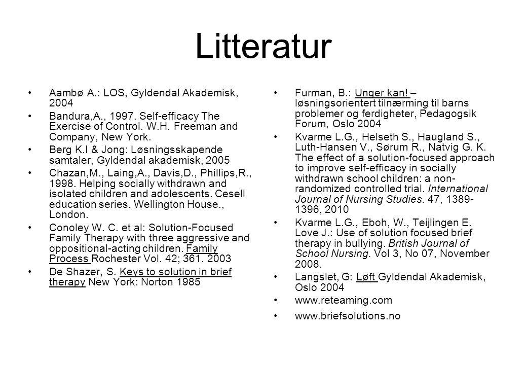 Litteratur Aambø A.: LOS, Gyldendal Akademisk, 2004