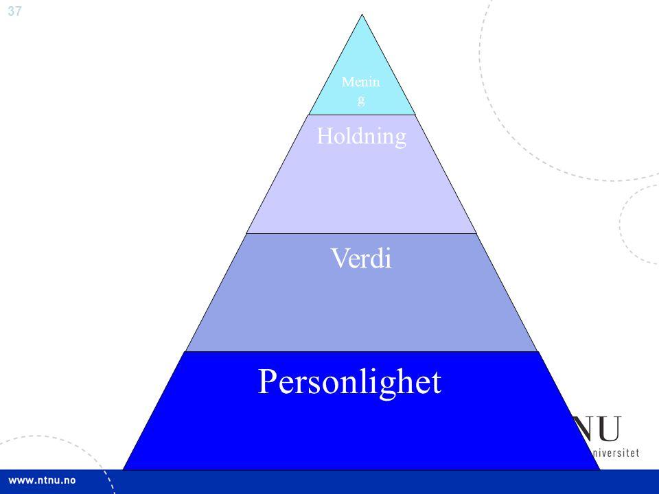 Mening Holdning Verdi Personlighet